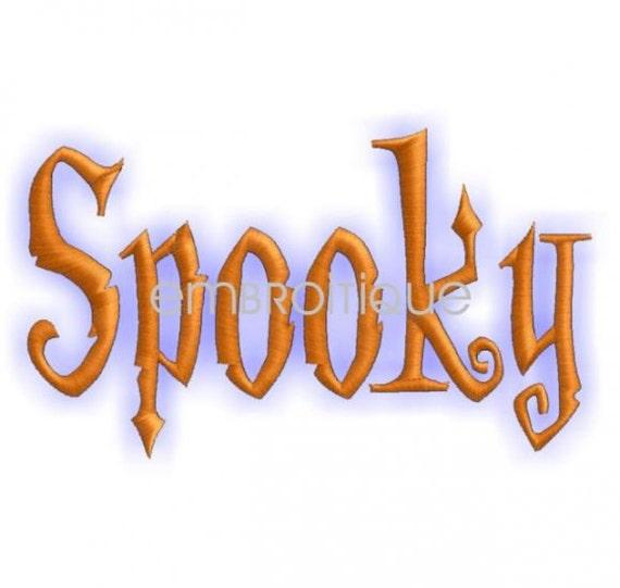 Halloween spooky monogram font set machine embroidery