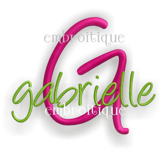 Gabrielle Monogram Set - Machine Embroidery Font Alphabet Letters  - Instant Email Delivery Download  design
