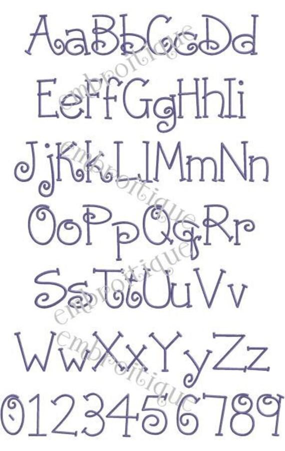 parker monogram font set machine embroidery font alphabet