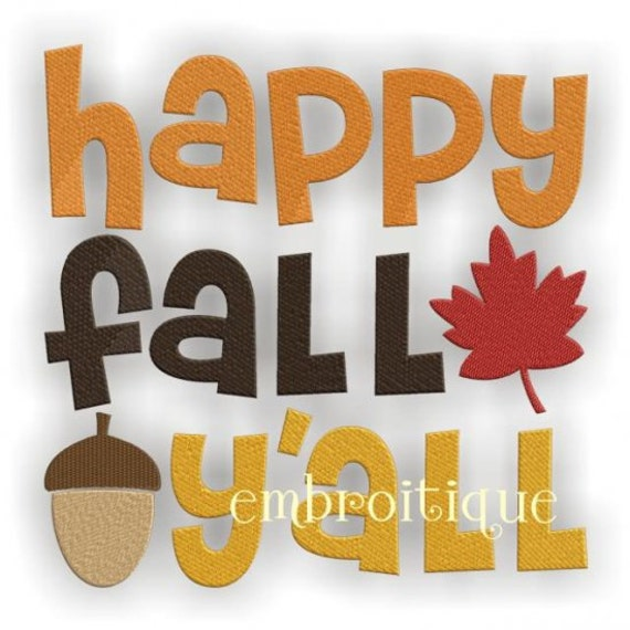 Punchy image throughout happy fall yall printable