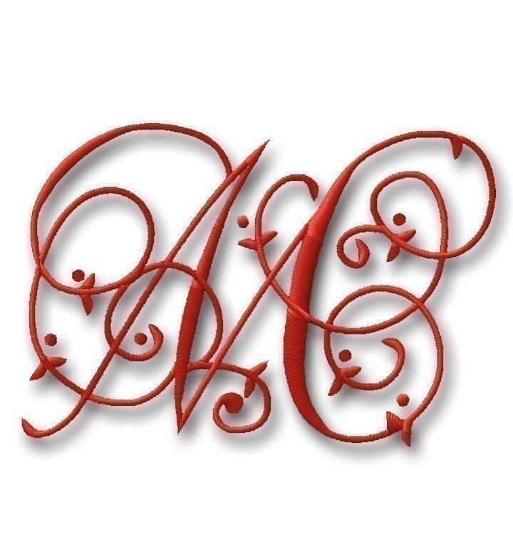 Maisie monogram font set quot and machine embroidery