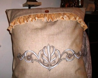 French Scroll IV Pillow Slipcover