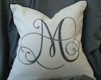 Custom Monogram  Pillow Cover