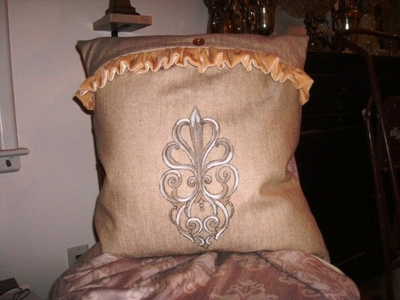 French Scroll III Pillow Slipcover