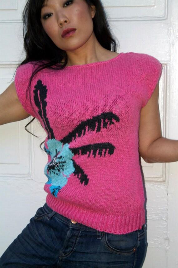 Vintage 1980s Summer Sleeveless Sweater
