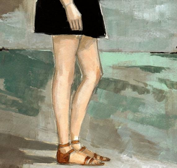 Long Walk, sewn painting