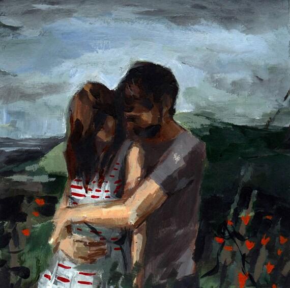 Honeymoon, original sewn painting