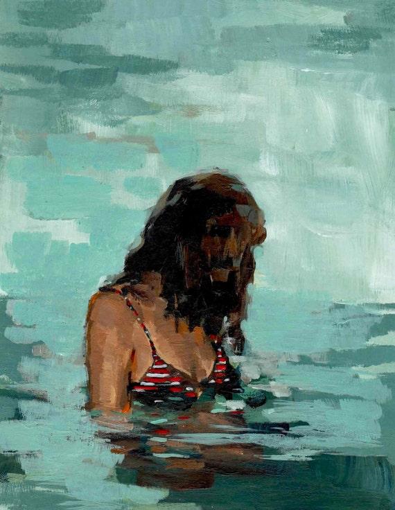 Summer Girl . giclee art print