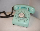 Vintage Turquoise ROTARY Dail PHONE . . . Working & Ready to Use