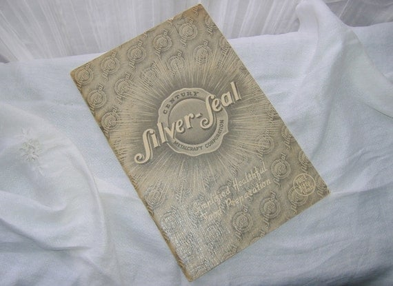 1936 Century SILVER SEAL Cookware Manual & Cookbook . . . many product photos . . . finders 1/2off SaLe