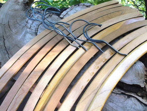 Old Wooden Clothes Hanger Lot . . . 10 count . . . ReSeRvEd