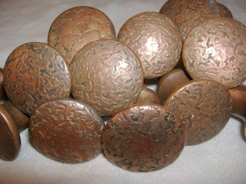 Vintage Hammered Copper Look Drawer Pull By Finders4keepers
