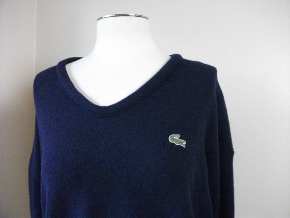 Mens Navy Blue Izod Pullover Sweater, Size Large