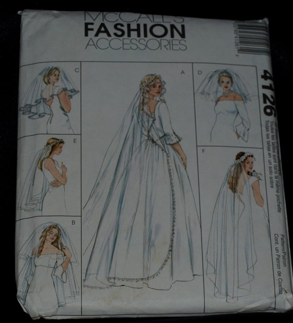 Bridal Veil Sewing Pattern by McCall's Fashion Accessories