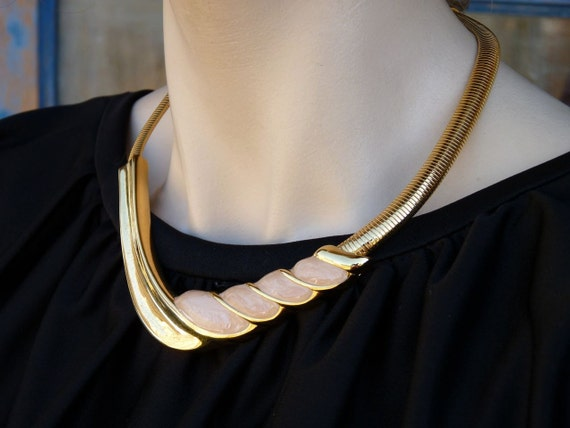Napier Necklace 1980s Glam Girl Faux Gold