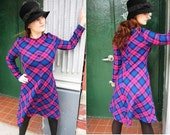 Parade New York 1960s MOD Plaid Dress