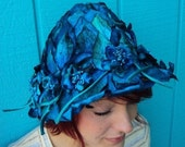 1950s Royal Blue Velvet Forest Nymph Hat