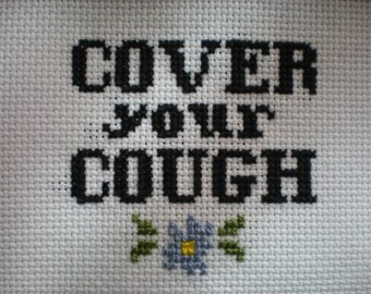 Pattern - Cover your Cough Cross Stitch