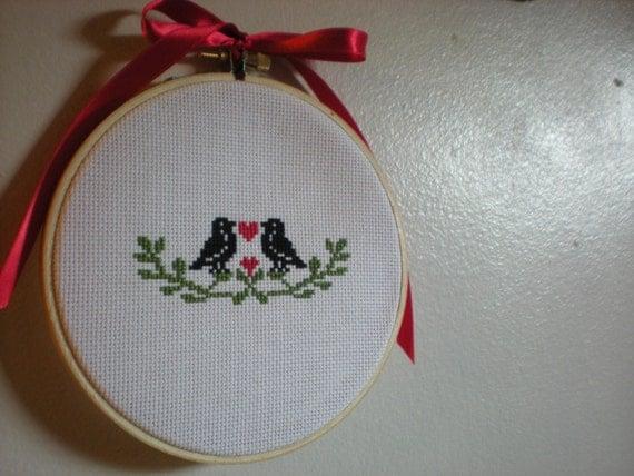 Pattern - Love Birds Cross-Stitch