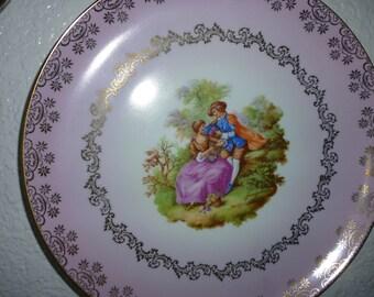 Beautiful Victorian Vintage Plate Gloria Rembrandt Germany SALE