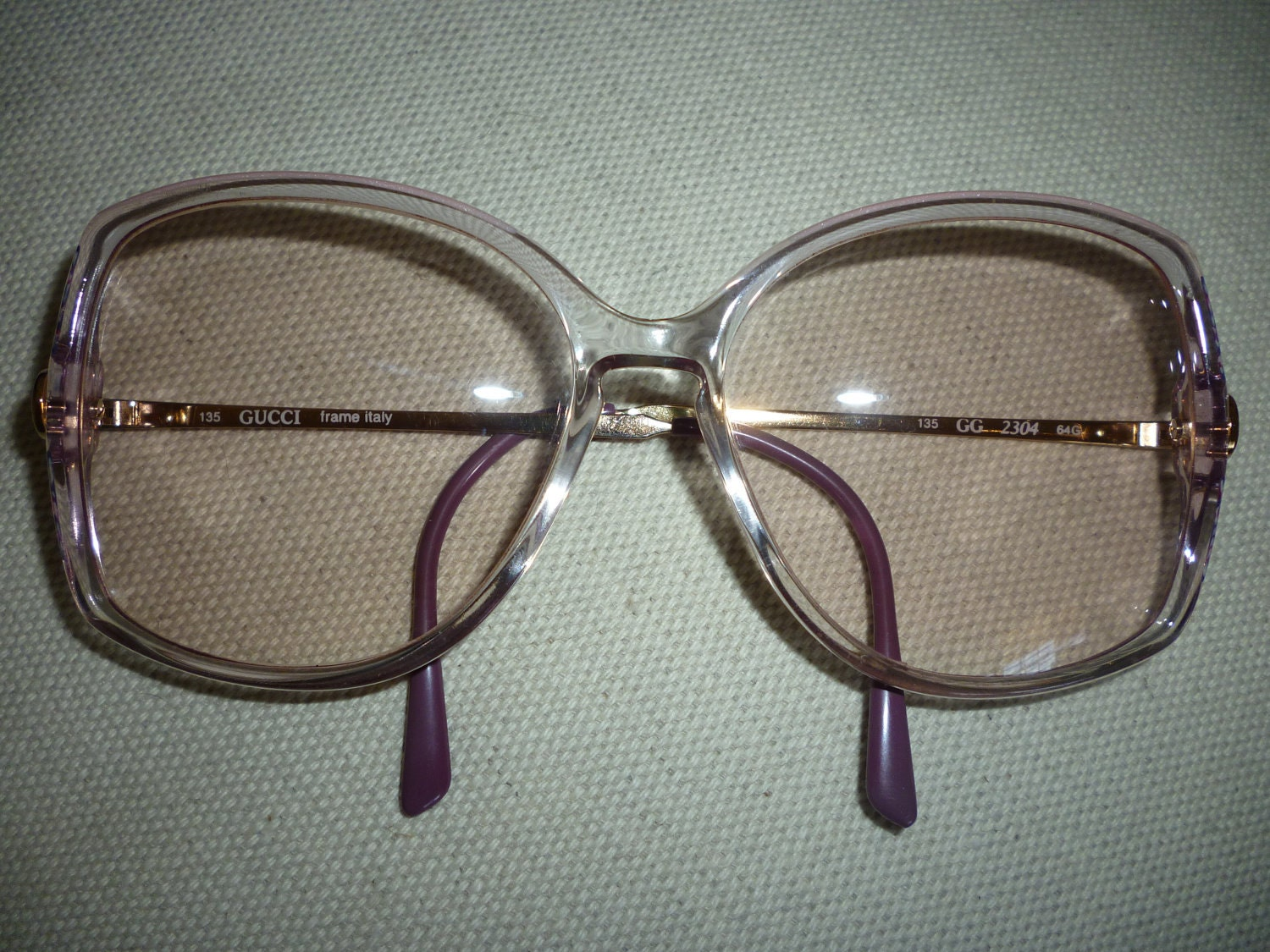 Vintage Gucci Glasses Frame : Vintage Gucci Eye Glasses