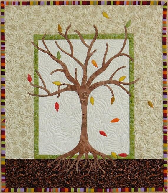 Autumn Tree Quilt Art
