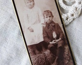 on reserve - Victorian Photo of Sweet Little Girl and Little Boy