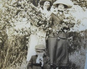 on reserve - Hiding in the Bushes - FUN Edwardian Photo of Playful Group