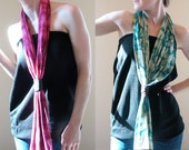 Scarf. Leather Bound. Hand-Dyed. LOTS of colors.
