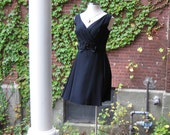 Vintage Little Black Dress with Bow M/L