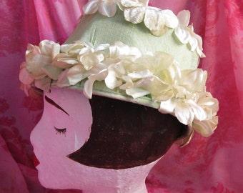 Green Floral Vintage Hat