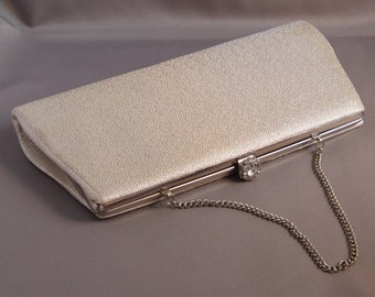 Silver Purse with Jeweled Tilt Clasp