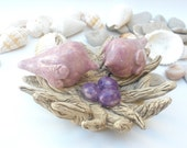 Christmasinjuly - OOAK custom love birds nest with three eggs in a color of your choice
