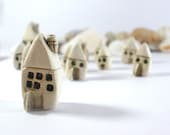 Rustic Beach cottage A set of tiny houses - miniature ceramic houses Home decoration Collection  Little houses