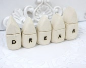 A set of tiny rustic ceramic DREAM houses  Wedding decoration Miniature houses  Little houses, Wedding reception