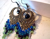 RESERVED FOR TEENER1416 Peacock Earrings