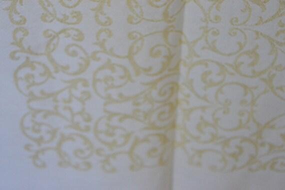 Vintage Gold Brocade Tablecloth