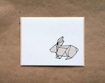 Rabbit Origami Stationery