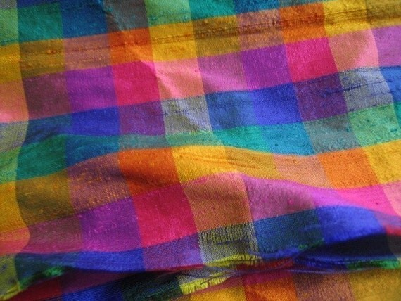 My favorite fabric from my own shop - Half yard Multi-colored Plaid 5