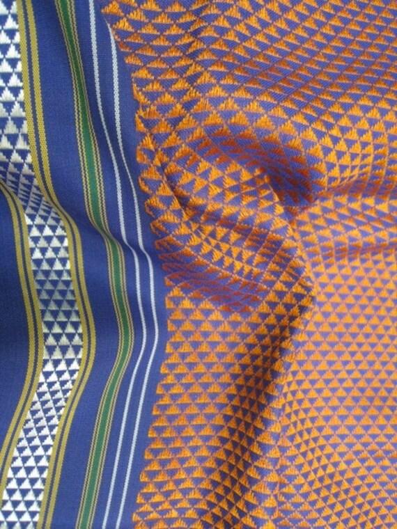 Half Yard Dark Peach Authentic Maharashtrian Fabric