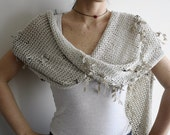 Asymmetric Latte Fashionable Shawl