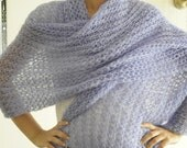 Lilac Wool Warm and Soft Scarf