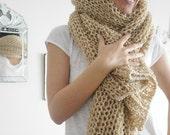 Women Scarf, Wool Scarf, Soft Scarf, Warm Scarf, Knitt Scarf, Christmas Gift, Camel Scarf