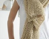 Christmas Gifts, Womens Scarf, Wool Scarf, Soft Scarf, Warm Scarf, Knitted Scarf, Camel Scarf