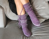 Christmas Gift, Long Slippers, Warm Slippers, Handmade Booties, House Slippers, Mukluk