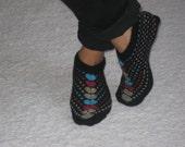 Black Chic Wool Slippers