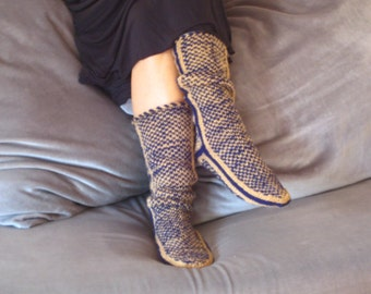 Christmas ,Warm Slippers, Long Slippers, Cozy Slippers, Mukluk
