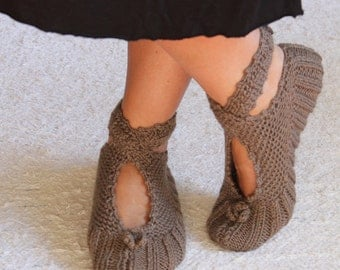 Elegant , Ballerina Slippers ,Wool Slippers ,House Slippers ,Christmas Slippers