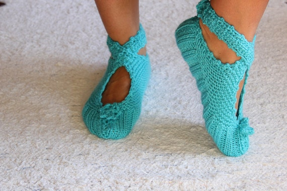 Blue  Ballerina Slippers , Cozy Slippers ,Women Slippers