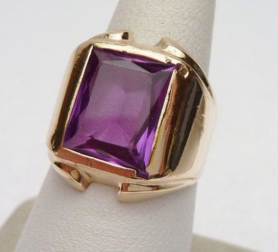 Vari-Gem Synthetic Purple Stone Ring